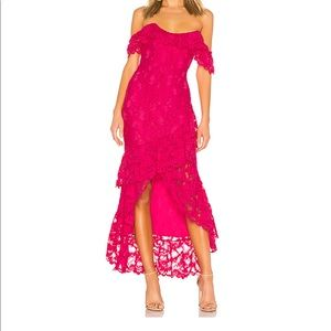 Lovers and friends hot pink lace dress